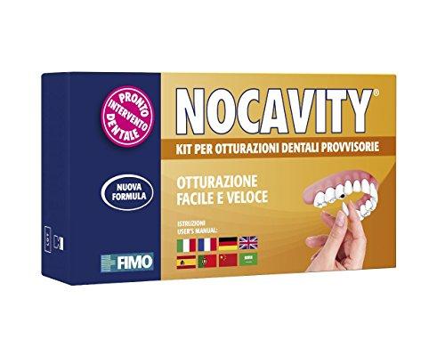 Nocavity NUOVA FORMULA Kit per Otturazioni Dentali Provvisorie. Isola la cavità dentale e riduce il dolore in caso di perdita di otturazioni, piccole carie e denti rotti - 9 g