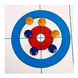 SXGKYY Familia De Viaje Juego De Mesa For La Escuela De Sobremesa Curling Juego Portátil Compacto Mini Curling 28 * 120cm