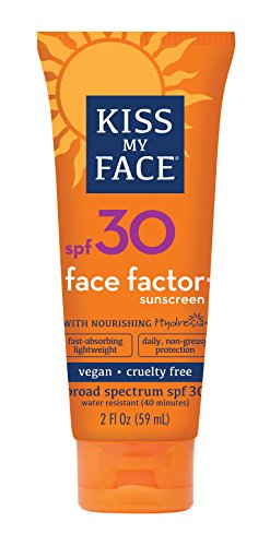 Kiss My Face Face Factor Natural Sunscreen SPF 30 Sunblock for Face and Neck, 2 Ounce