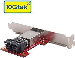 10Gtek Mini SAS Adapter SFF-8643 to SFF-8644 Dual Port Mini SAS Adapter