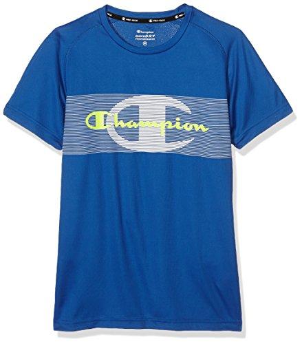Champion T-Shirt col Rond T-Shirt, Safety Jaune, XXL, 209924 _ S16 L Bleu - Bleu Cobalt