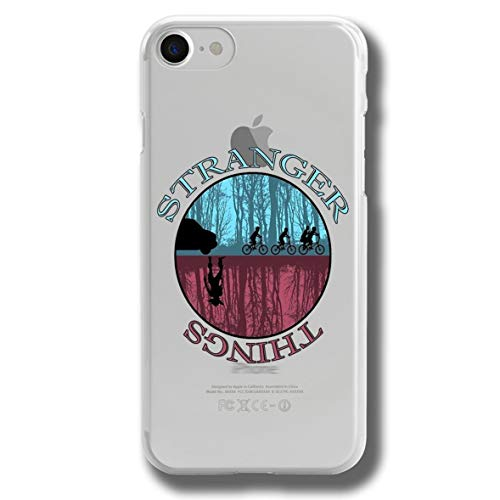 RENGMIAN Funda iPhone 7 Plus/iPhone 8 Plus,Stranger Things Scratch-Resistant Transparent Soft TPU Case Pattern-404 Resistant Slim Fit iPhone 7 Plus/iPhone 8 Plus
