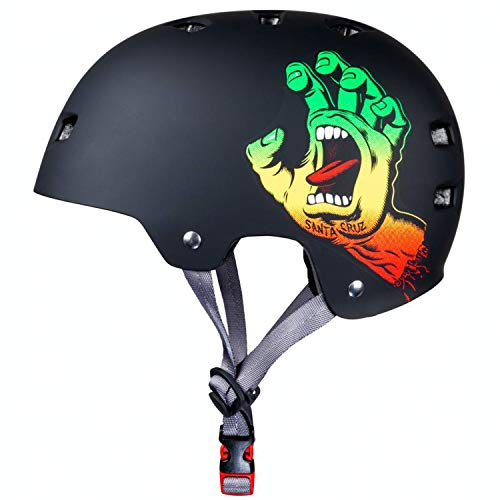 Bullet x Santa Cruz Screaming Hand Skate/BMX Helmet Rasta Small/Medium (54-57cm) / Rasta