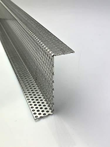 Aluminium 1,5mm dick Z-Profil Winkel Lochblech RV3-5 Kiesfang, Größe nach Maß (500 mm, Schenkel A: 15mm / B: 80mm / C: 15mm)
