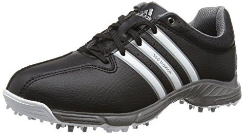 adidas 360 Traxion, Unisex-Kinder Golfschuhe, Schwarz (Core Black/White/Iron Met), Gr. 37 1/3  EU...