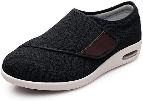 LLGG Zapatillas DiabéTicas Zapatos Extra Anchos,Ampliar calcomanías mágicas Antideslizantes Zapatos viejos-42_Gris Claro