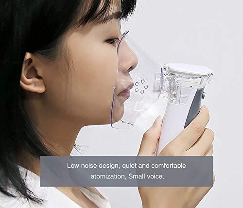 Lee My Tragbarer Dampfinhalator Cool Mist Inhaler für Kinder Erwachsene Wiederaufladbarer Haushaltsdampfkompressor Luftbefeuchter Mini Medical-Dampfvernebler