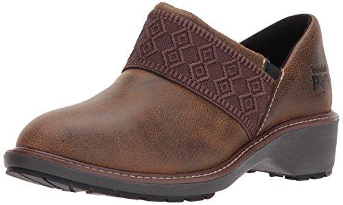 Timberland PRO Women's Riveter Alloy Toe SD+ Industrial & Construction Shoe, Dark Sudan Full Grain Leather, 8.5 M US