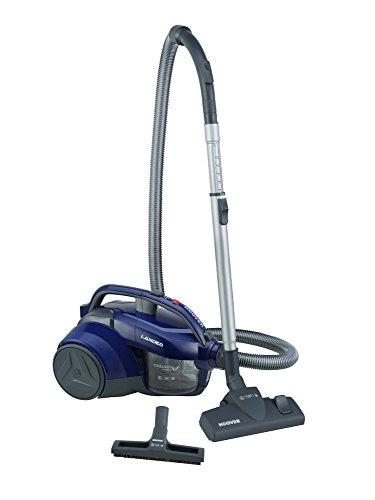 Hoover Lander LA20 Bolsa, Aspirador ciclónico, Cepillo parquet, Suelos Duros y alfombras, Accesorios Integrados, 700 W, 1.2 litros, 78 Decibelios, Polycarbonate, Azul