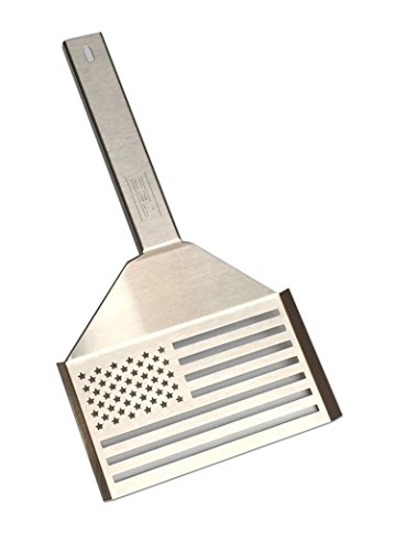 Premium grill spatula 18-gauge 304 stainless steel construction American flag design Made in the U.S.A. Part #: AASPAT