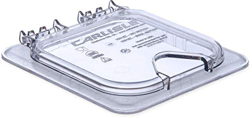 Carlisle 10319Z07 EZ Access Hinged Lid with Handle and Notch, Sixth Size, Clear (Renewed)