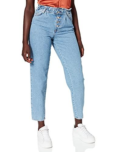 Only ONLCUBA Life HW Slouchy CA LBDNM JNS Dot Jeans, Mezclilla De Color Azul Claro, XS para Mujer