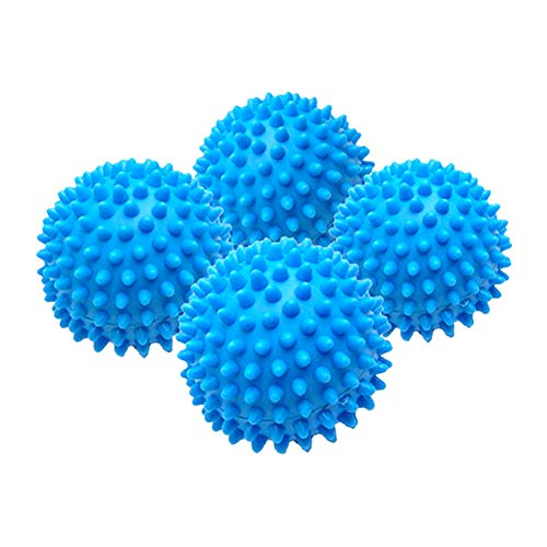 Set of 4 Reusable Dryer Ball to Replace Liquid Fabric Softener and Wool Dryer Sheets Reduce Drying Time, Alternative Drier Balls Laundry for 1000 Washing with Anti-Static PVC