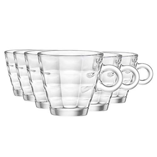 Bormioli Rocco Cubo del café express de los vidrios Set - 100 ml - Envase de 12