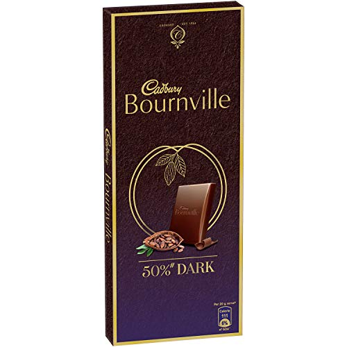 Cadbury Bournville Rich Cocoa Dark Chocolate Bar,...