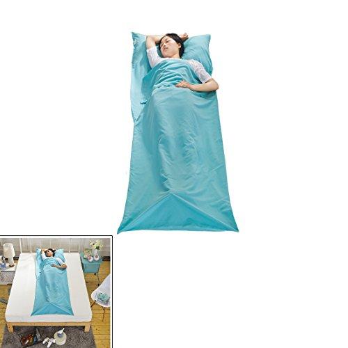 Schlafsack Srapazierfähig und Superweich mit Kissentaschen für Camping LINGJUN UK (Himmel Blau)