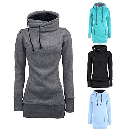 Zytyeu Hoodie Damen Sweatshirt Damen Schnürung Langarm Elegant Sexy Damen Sweatshirt...