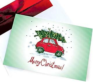 Funny Christmas Cards Boxed Retro Holiday Card Set Vintage & Fun 18 Box Pack – Festive Happy Holidays/Season Greeting Card...