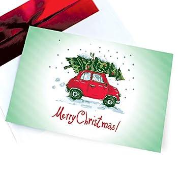 Funny Christmas Cards Boxed Retro Holiday Card Set Vintage & Fun 18 Box Pack – Festive Happy Holidays / Season Greeting Card – Merry Christmas Boxed Sets 4x6