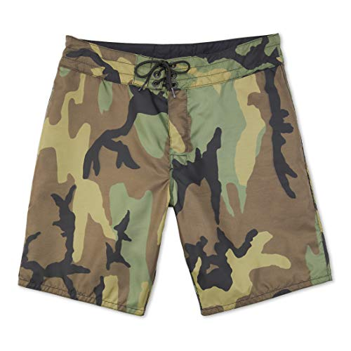 Birdwell Men's 311 Nylon Board Shorts, Medium Length (Camouflage, 31)