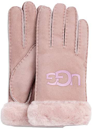UGG - handschoenen SHEEPSKIN LOGO GLOVE - roze kristal