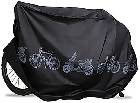 EZONTEQ Copertura Bicicletta Impermeabile, Telo Bici Copribici Copri Custodie per Bicicletta Coprimoto Protezione Antipolvere Anti UV- Nero