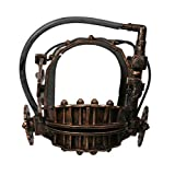 Coslive Horror Cosplay Saw Mask Reverse Bear Trap Helmet Full Head Resin Prop Bronze Halloween for Men, Style a, One Size