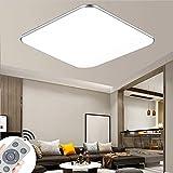 Lámpara de techo LED luz de techo regulable 48W con control remoto Se utiliza en el dormitorio, habitación de los niños, oficina, cocina, pasillo, baño, sala de estar, lámpara (3000-6500K)
