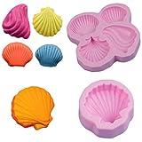 Silikonformen Fondant Seashell Silikonform DIY Silikon Formen für Fondant Backen 3D Kuchen Praline...