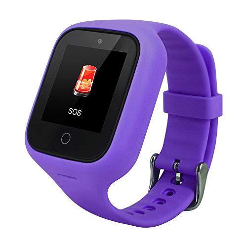 ZXLIFE@@@ meisjes-tracker, smartwatch voor kinderen, smartwatch tracker voor kinderen, voor het schatten van foto's en oproepen, SOS, magnetische oplading