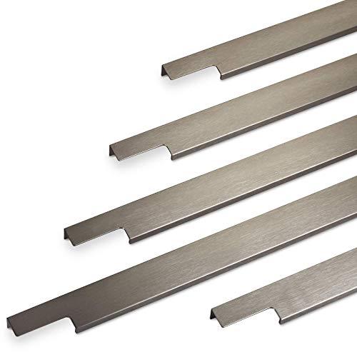 Möbelgriff BLANKETT 795 mm Edelstahloptik gebürstet Griffleiste (Wird an die Frontinnenseite verschraubt) Schrankgriff Küchengriff von SO-TECH®