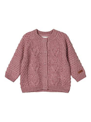 NAME IT Baby-Mädchen NBFWRILLA Wool LS Knit Card XX Pullover, Nostalgia Rose, 62