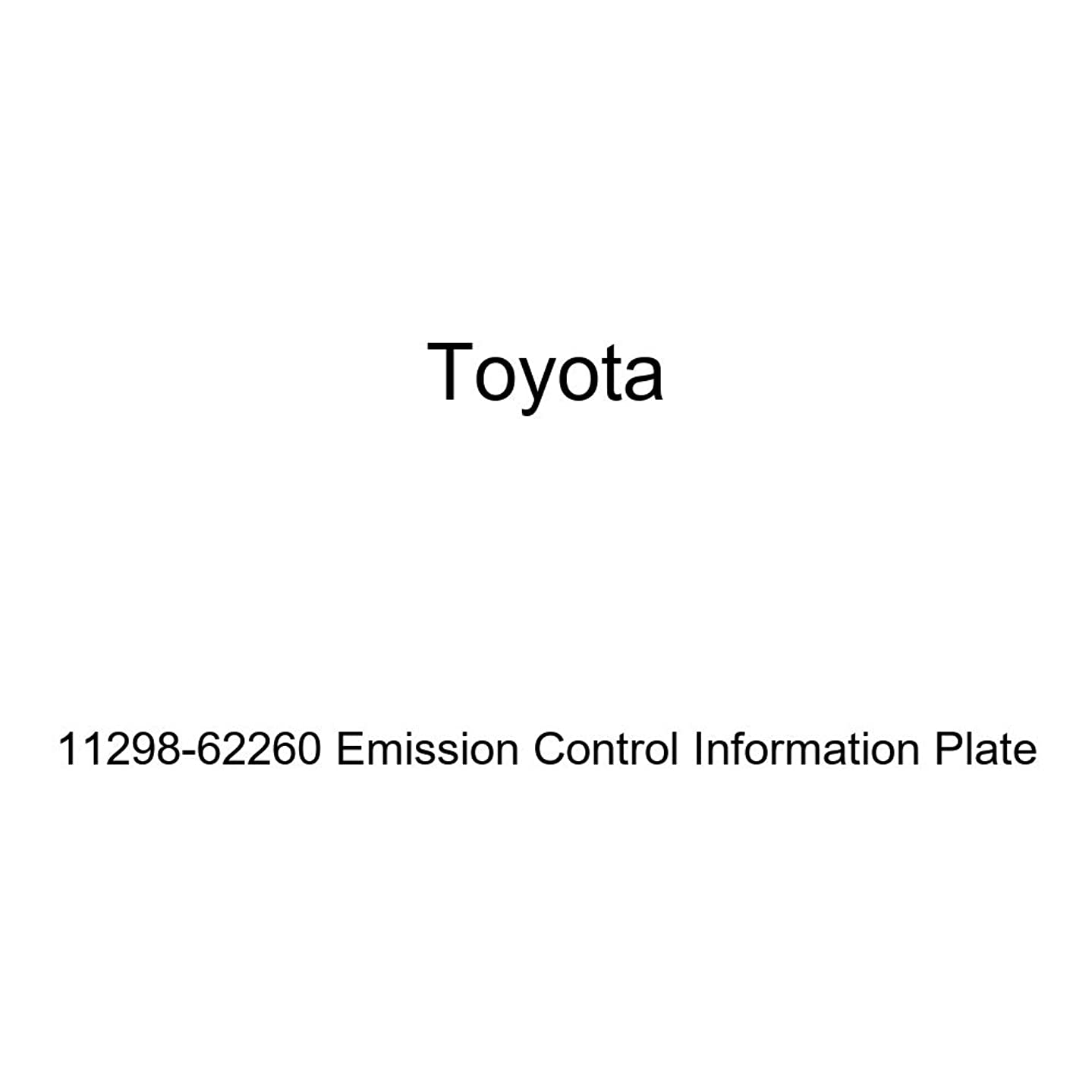 Genuine Toyota 11298-62260 Emission Control Information Plate