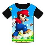 Ma-R_io Game - Camiseta de manga corta para niños, diseño gráfico en 3D