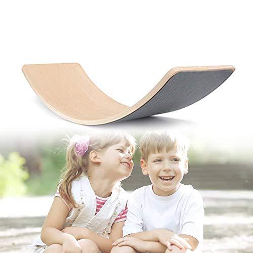 ZhiLianZhao Tabla De Equilibrio De Madera para Niños Tabla De Balancín De Madera Natural con Aprendizaje Abierto para Niños Pequeños, Niños, Juguetes De Escalada para Niños Pequeños,A