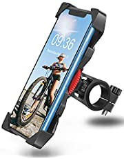 """Bovon Soporte Movil Bicicleta, Anti Vibración Soporte Movil Bici Montaña con 360° Rotación para Moto, Universal Manillar Compatible con iPhone 12/12 Pro/12 Mini/11 Pro MAX y 3.5""""-6.5"""" Móvil"""