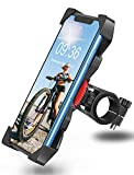 Bovon Soporte Movil Bicicleta, Anti Vibración Soporte Movil Bici Montaña con 360° Rotación para Moto, Universal Manillar Compatible con iPhone 12/12 Pro/12 Mini/11 Pro MAX y 3.5'-6.5' Móvil