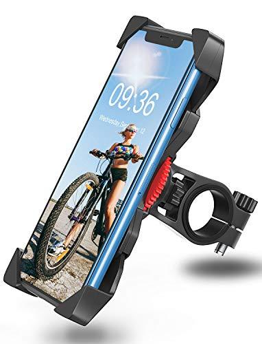 Bovon Porta Cellulare Bici, Supporto Bici, Supporto Smartphone per Moto MTB Universale Anti-Shake per Smartphone e Altri Dispositivi Elettronici 3,5-6,7 Pollici