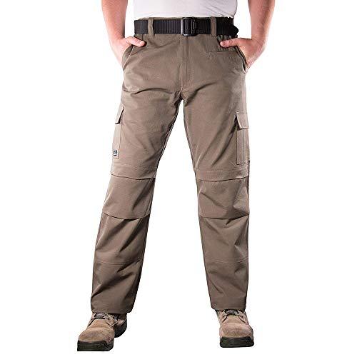 LA Police Gear Urban Recon Cotton Canvas Tactical Cargo Work Pant - Slate Brown - 38 x 36