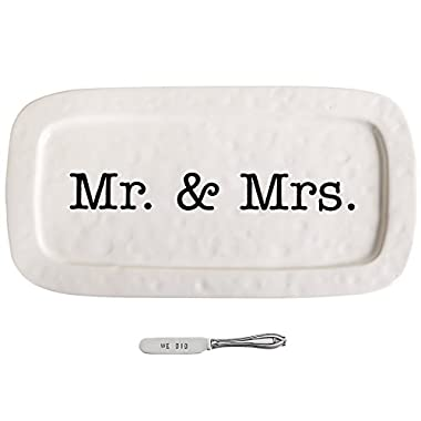 Mud Pie Wedding Hostess Tray Set, White