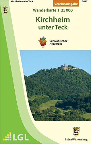 Kirchheim unter Teck: Wanderkarte 1:25.000 (Wanderkarten 1:25 000)