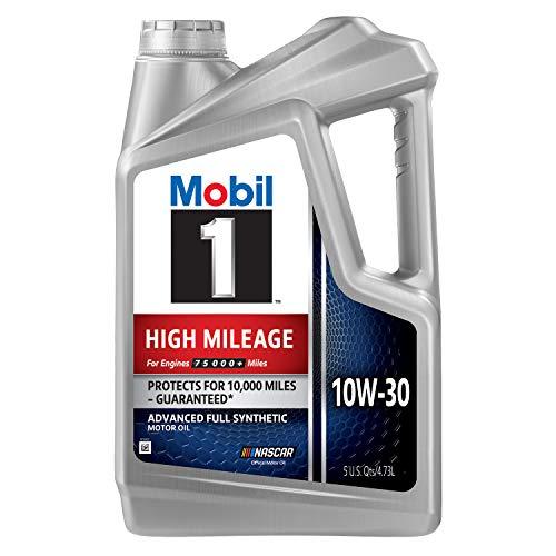Mobil 1 High Mileage 10W-30 Motor Oil - 5 Quart
