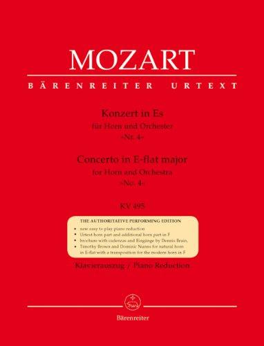 モーツァルト: ホルン協奏曲 第4番 変ロ長調 KV 495 (E-flat管)/新モーツァルト全集版/ベーレンライター社/ホルンとピアノ