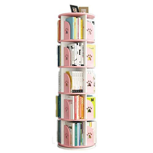 Librerie Girevole Bambini Regolabile in Altezza Assembla Il reggilibro Stimola l'interesse dei Bambini per la Lettura (Color : Pink, Size : 50.5 * 159cm)