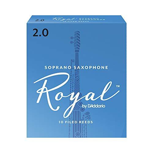 Confezione da 10 ance Rico Royal per sassofono soprano, durezza 2,0