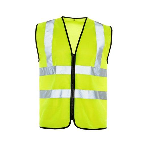 SuperTouch 32347con zip Hi Vis Vest, 4x -large, Yellow