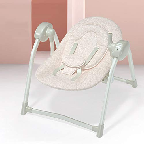 Bulawlly Babystühle und Wippen Automatische Baby Rocker Verandaschaukel für Babyschaukel Cradle, Automatischer beweglichen Baby-Rocker Swing-Stuhl mit Musik,A