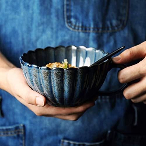 Ciotole di HUAHUA insalatiera di ceramica ciotola in mano al forno creativo pizzo zuppiera tazza di caffè 5 pollici