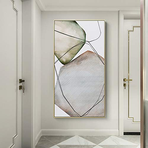 N / A Rahmenlose Malerei Einfaches abstraktes großes graues Steinplakat für die Kunstdekoration des Hotelkorridors Wohnzimmer Hauptdekoration WandZGQ6879 30X55cm
