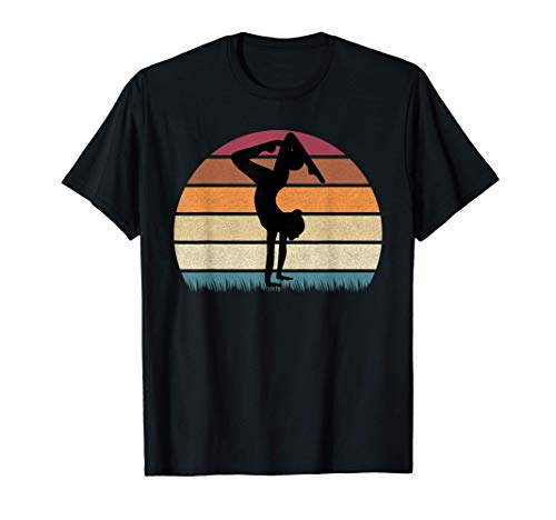 Gymnaste avec ballon en gymnastique rythmique rétro coucher T-Shirt